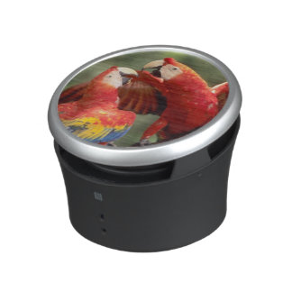 Amazon, Brazil. Pair of Scarlet Macaws (Ara Bluetooth Speaker