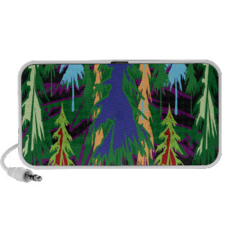 Amazon Dense Forest Trees Abstract Art on Gifts Speaker