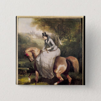 Amazon in the Forest at Pierrefonds 15 Cm Square Badge