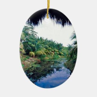 Amazon Jungle River Landscape Christmas Ornament