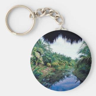 Amazon Jungle River Landscape Keychains
