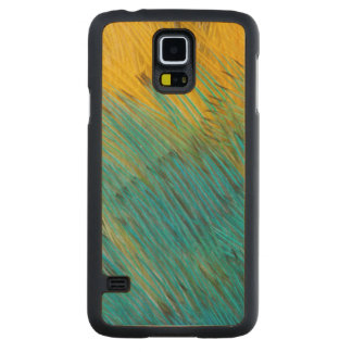 Amazon Parrot Feather Abstract Carved Maple Galaxy S5 Case