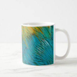 Amazon Parrot Feather Abstract Coffee Mug