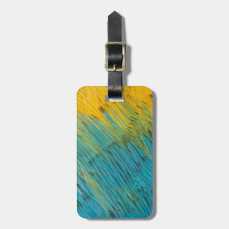 Amazon Parrot Feather Abstract Luggage Tag