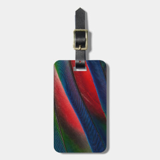 Amazon parrot feather design luggage tag