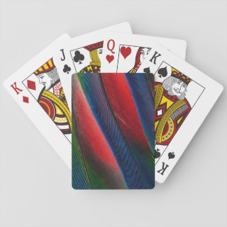Amazon parrot feather design playing cards