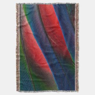 Amazon parrot feather design throw blanket
