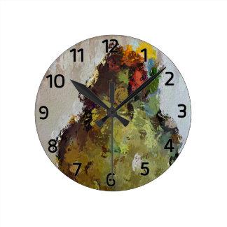 Amazon Parrot Round Clock