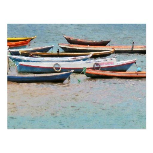 Amazon River Boats Brazil Postcard