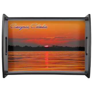Amazon River Sunset Serving Tray