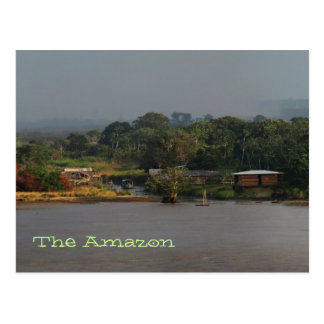 Amazon River Village Photo Postcard