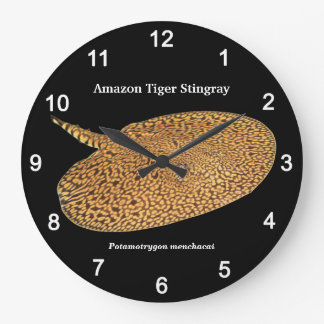 Amazon Tiger Stingray and Potamotrygon menchacai Large Clock