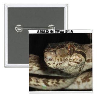 amazon tree boa 15 cm square badge
