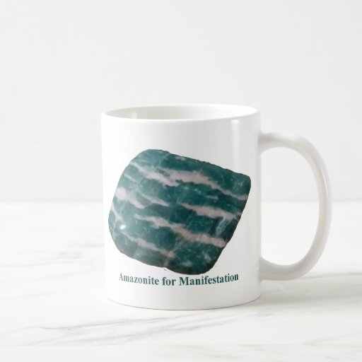 Amazonite for Manifestation Mug by IreneDesign2011