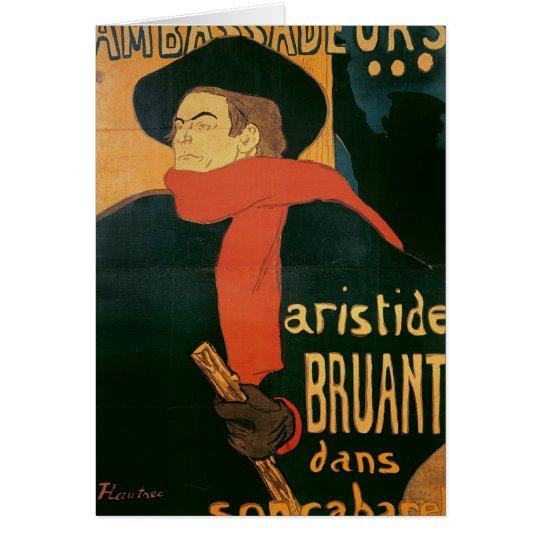 Ambassadeurs: Aristide Bruant, 1892 Card