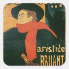 Ambassadeurs: Aristide Bruant, 1892 Square Sticker