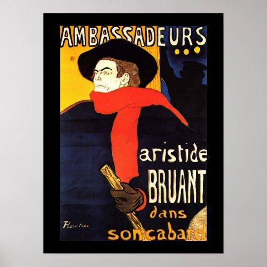 Ambassadeurs Aristide Bruant in His Cabaret Poster