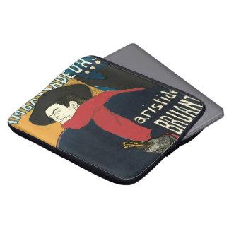 Ambassadeurs: Artistide Bruant by Toulouse Lautrec Laptop Sleeve