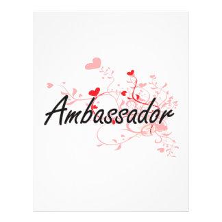 Ambassador Artistic Job Design with Hearts 21.5 Cm X 28 Cm Flyer
