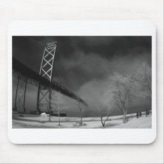Ambassador Bridge - Detroit Michigan - Infrared Mouse Pad