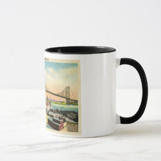 Ambassador Bridge Detroit, Michigan Vintage Mug