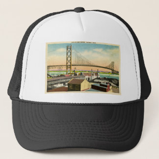Ambassador Bridge Detroit, Michigan Vintage Trucker Hat