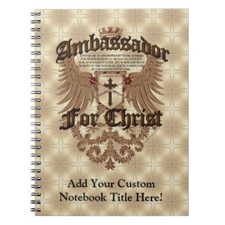 Ambassador For Christ, Corinthians Bible Verse Notebooks