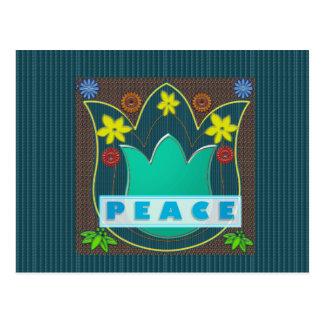 Ambassdor of PEACE Society Nations Artistic GIFTS Postcard