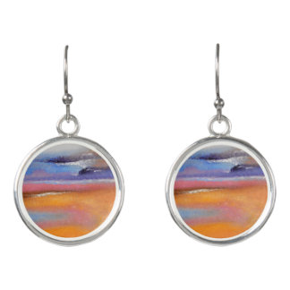 Amber Abstract Drop Earrings