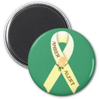 Amber Alert Awareness Ribbon Magnet
