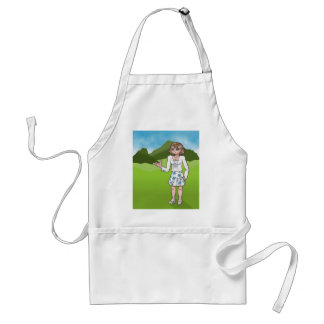 Amber, anime art gallery character apron