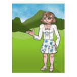 Amber, anime art gallery character postcard
