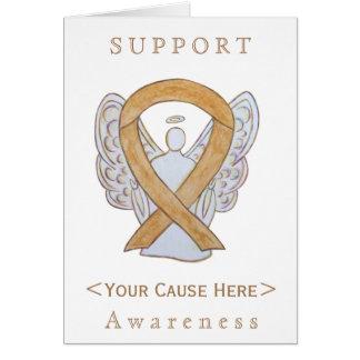 Amber Awareness Ribbon Angel Customized Card