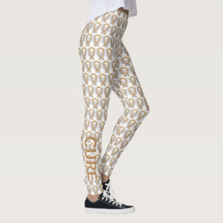 Amber Awareness Ribbon Angel Leggings