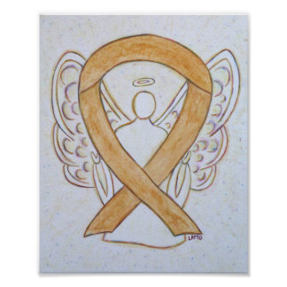 Amber Awareness Ribbon Angel Poster Art Print