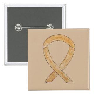 Amber Awareness Ribbon Custom Art Pins