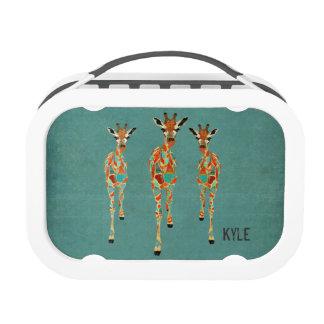 Amber & Azure Giraffes Lunch Box