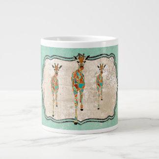 Amber & Azure Giraffes Mug Jumbo Mug