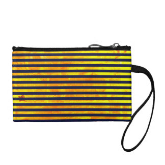 Amber background | stripes pattern coin purse