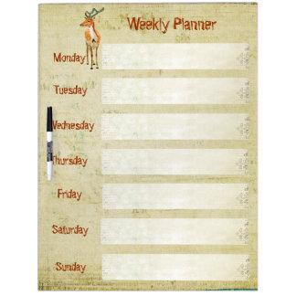 Amber Buck Weekly Planner Dry Erase Board