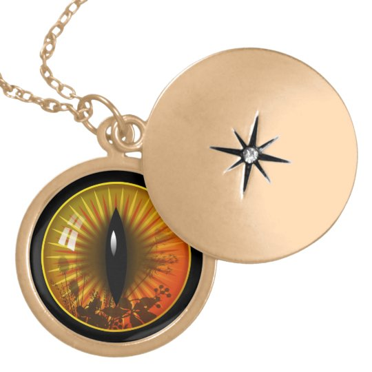 Amber Cat's Eye Gold Plated Necklace