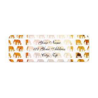 Amber elephants pattern custom background color