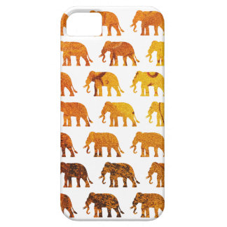 Amber elephants pattern custom background color barely there iPhone 5 case