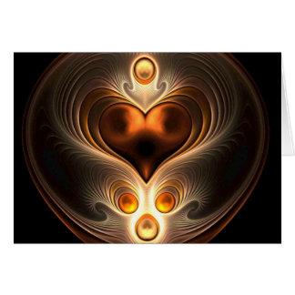 Amber Eternity Heart Card