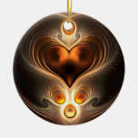 Amber Eternity Heart Christmas Ornament