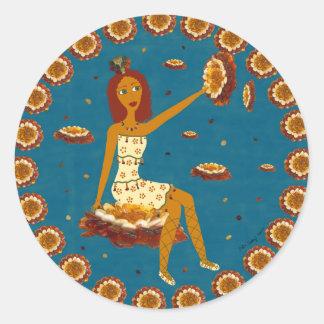 Amber Faerie Round Sticker