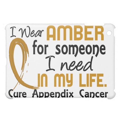 Amber For Someone I Need Appendix Cancer Case For The iPad Mini