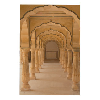 Amber Fort Arched Hall Wood Wall Decor