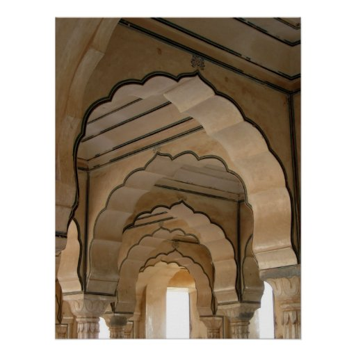 Amber Fort, Echoing Arches (Vertical) Poster