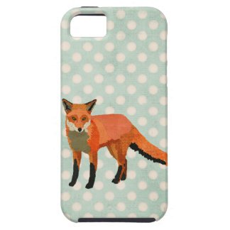 Amber Fox Blue Polkadot  iPhone Case